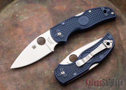 Spyderco: Native 5 Lightweight - Dark Blue FRN - CPM-S110V - C41PDBL5