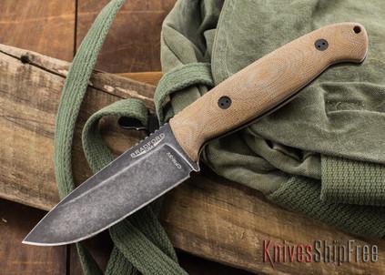 Bradford Knives: Guardian 4.5 - 3D Natural Micarta - CPM-3V - Nimbus Finish