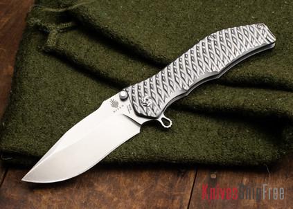 Kizer Cutlery: Gunhammer - Darrel Ralph Titanium Framelock - 3D Machined Texture - CPM-S35Vn