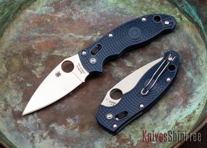 Spyderco: Manix 2 Lightweight - Dark Blue FRCP - CPM-S110V - C101PDBL2