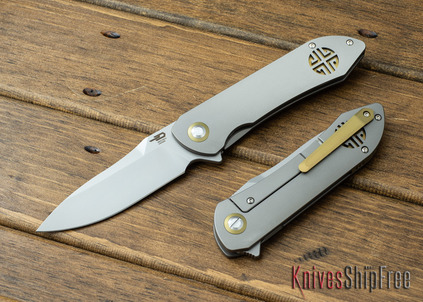 Bestech Knives: Emperor - Titanium Framelock - CPM-S35Vn