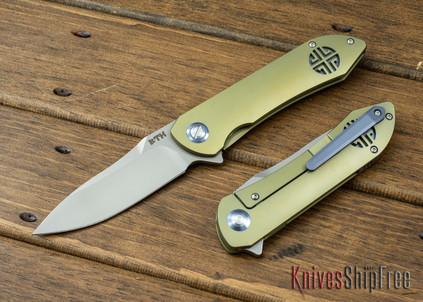 Bestech Knives: Emperor - Gold Titanium Framelock - CPM-S35Vn