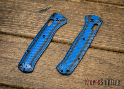 Custom Benchmade Bugout Scales - Blue & Black G-10
