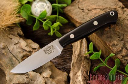 Bark River Knives: Little Creek - Elmax - Black Canvas Micarta