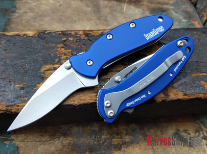 Kershaw Knives: Chive - Navy Blue Aluminium Handles - 1600NBSW