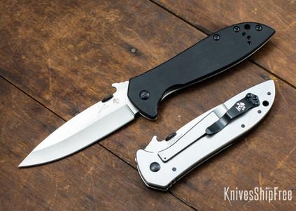 Kershaw Knives: Emerson CQC-4KXL - Wave Opener - Black G-10 - D2 Tool Steel