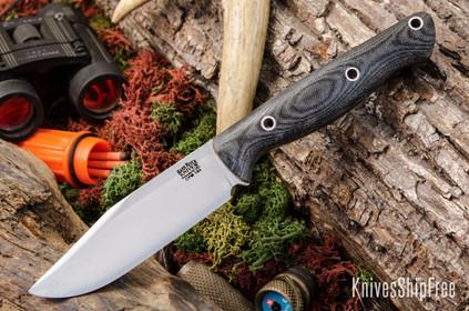 Bark River Knives: Gunny Sidekick CPM-154 - Black Canvas Micarta - Matte - Hollow Pins