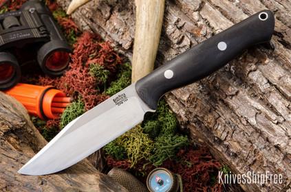 Bark River Knives: Gunny Sidekick CPM-154 - Black G-10 - Matte