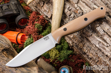 Bark River Knives: Gunny Sidekick CPM-154 - Coyote Brown G-10 - Black Liners & Pins