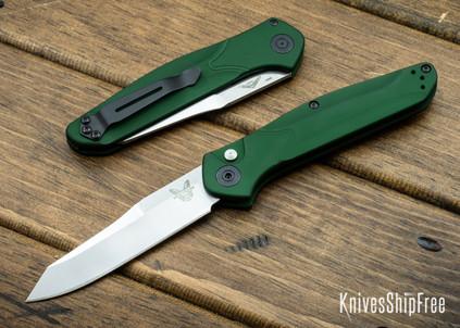Benchmade Knives: 9400 Osborne Auto - Green Aluminum - CPM-S30V