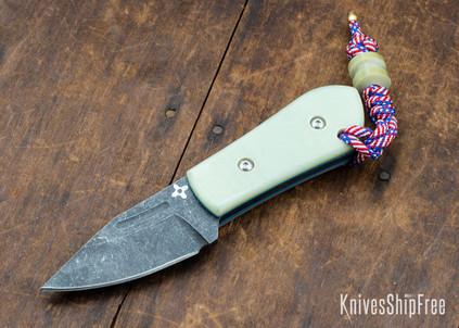 Joe Loui Knives: Chico #026 - Jade G-10 - Blue Liners