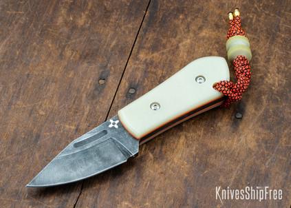 Joe Loui Knives: Chico #030 - Jade G-10 - Orange Liners