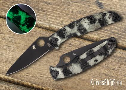 Spyderco: Endura 4 - Zome Glow-in-the-Dark FRN - VG-10 - Black Blade - C10ZFPGITDBK