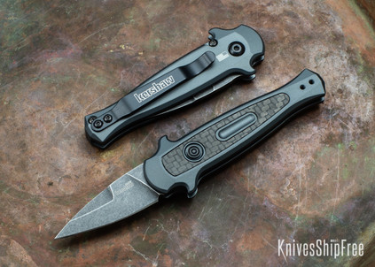 "Kershaw Knives: Launch 12CA Auto - Mini Stiletto - Gray Aluminum - Blackwash 1.9"" Blade - 7130GRYBW"