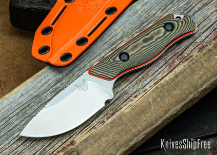"Benchmade Knives: 15017-1 Hidden Canyon Hunter - Richlite / Orange G-10 - 2.8"" CPM-S90V"