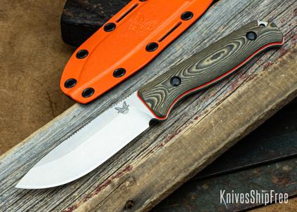 "Benchmade Knives: 15002-1 Saddle Mountain Skinner - Richlite / Orange G-10 - 4.2"" CPM-S90V"
