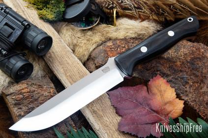 Bark River Knives: Bravo 1.5 - CPM 3V - Black Canvas Micarta