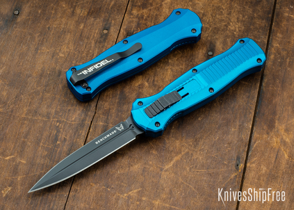 Benchmade Knives: 3300BK-2001 Infidel - Limited Edition - Blue Anodized Aluminum - CPM S30V - Black DLC