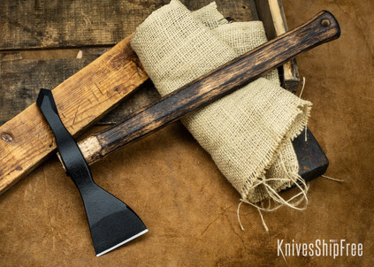 American Tomahawk: Model 1 - Gold Point Forge Edition - Hickory Handle - Drop-Forged 1060 Steel - Black Powdercoat