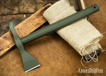 American Tomahawk: Model 1 - OD Green Supertough Nylon Handle - Drop-Forged 1060 Steel - Black Powdercoat