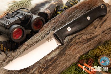 Bark River Knives: Gunny - CPM S45VN - Black Canvas Micarta