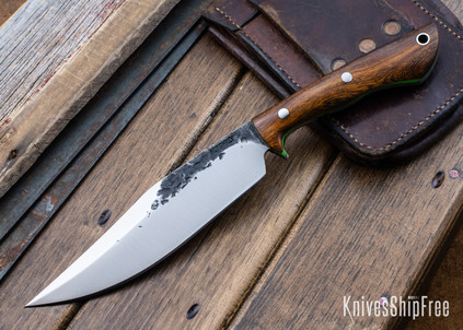 Lon Humphrey Knives: Hickok - Forged 52100 - Desert Ironwood - Lime Green Liners - 120288