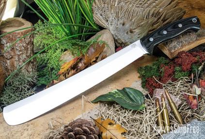 Bark River Knives: Golok II - Black Canvas Micarta