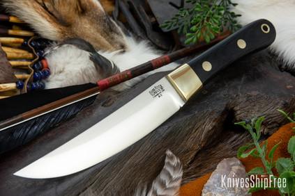 Bark River Knives: Hudson Bay Scalper - Black Canvas Micarta