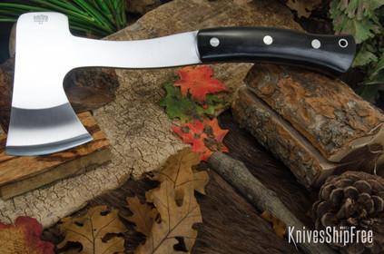 Bark River Knives: Hunter's Ax - Black Canvas Micarta