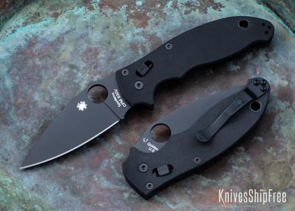 Spyderco: Manix 2 - Black G-10 - CPM-S30V - Black Blade - C101GPBBK2