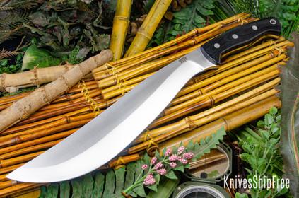 Bark River Knives: Ja-Nap - Black Canvas Micarta