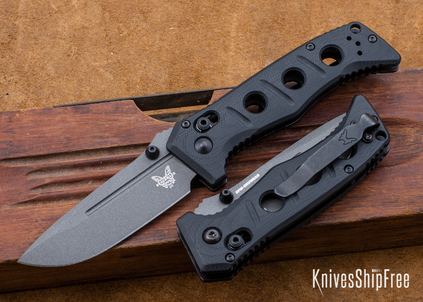 Benchmade Knives: 273GY-1 Mini Adamas - Black G-10 - CPM CruWear - Tungsten Gray Cerakote