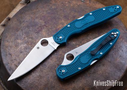 Spyderco: Police 4 Lightweight - Blue FRN - K390 - C07FP4K390