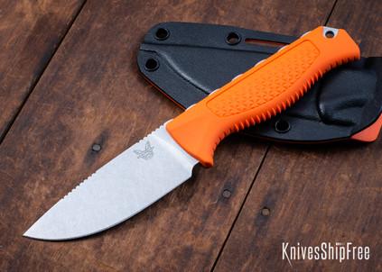 Benchmade Knives: 15006 Steep Country Hunter - Orange Santoprene - CPM-S30V