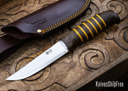 """Helle Morgon - 2021 Limited Edition - 4.25"""" Scandi - Dark Oak - Dyed Leather Spacers"""