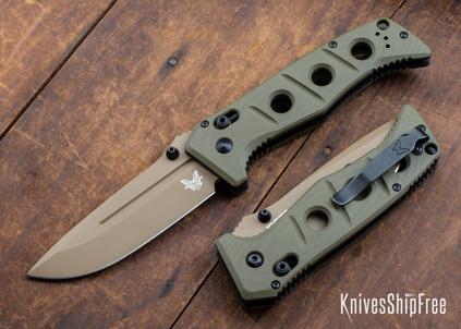 Benchmade Knives: 275FE-2 Adamas - Olive Drab G-10 - CPM CruWear - Flat Earth Cerakote