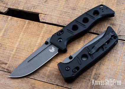 Benchmade Knives: 275GY-1 Adamas - Black G-10 - CPM CruWear - Tungsten Gray Cerakote