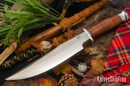 Bark River Knives: Highwayman III - Stacked Leather