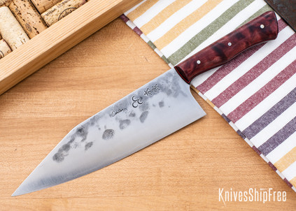 Carter Cutlery: Freestyle - Dyed Maple - Black & Cherry Red Liners - CC05EG004