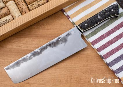Carter Cutlery: Muteki - Nakiri - Corian - White & Black Liners - CC05EG012