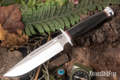 Bark River Knives: Teddy - Black Canvas Micarta
