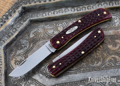 Case Knives: Sod Buster Jr. - Pocket Worn Old Red Bone Corn Cob Jig Bone - 10304