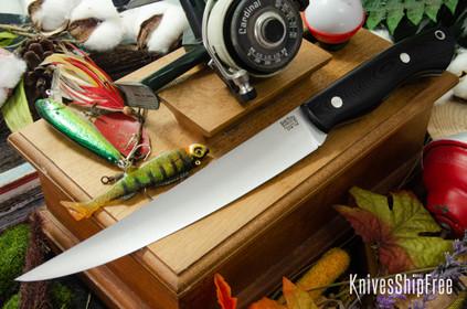 Bark River Knives: Kalahari Sportsman - CPM 154 - Black G-10