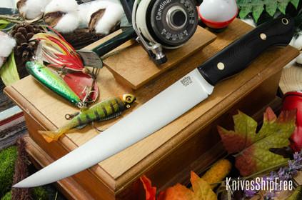 Bark River Knives: Kalahari Sportsman - CPM 154 - Black G-10 L.E.