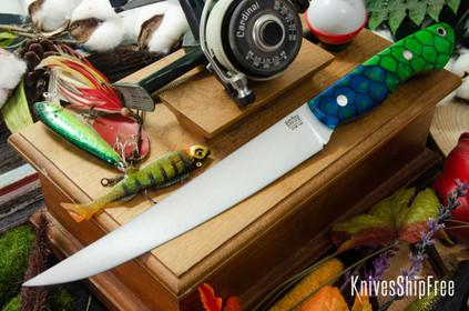 Bark River Knives: Kalahari Sportsman - CPM 154 - Borealis Dragon Scale