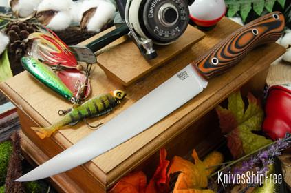 Bark River Knives: Kalahari Sportsman - CPM 154 - Orange Black Suretouch - Matte - Orange Liners - Hollow Pins
