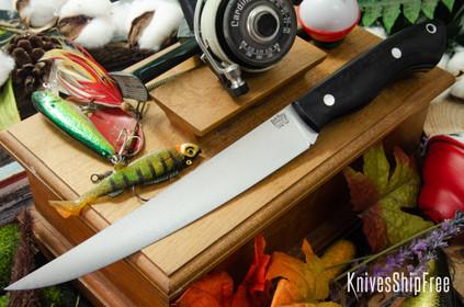 Bark River Knives: Kalahari Sportsman - CPM 154 - Black Canvas Micarta