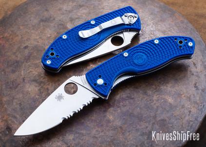 Spyderco: Tenacious Lightweight - Blue FRN - CPM-S35VN - Combo Edge - C122PSBL