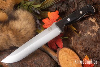 Bark River Knives: Bravo 2 - CPM 3V - Black Canvas Micarta