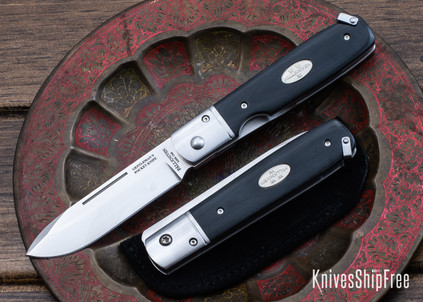 Fallkniven: GPbm - Gentleman's Pocket Folder - Black Micarta - Laminated CoS Steel